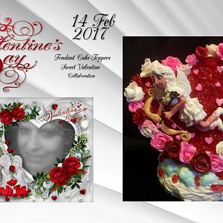 Fondant cake-topper Sweet Valentine Valentine Collaboration 2017