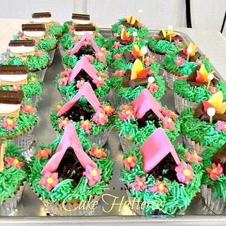 Camp Out Cupcakes - Cake by Donna Tokazowski- Cake Hatteras, Hatteras N.C.