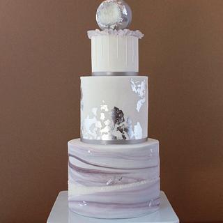 crystal quartz geode cake