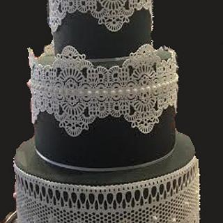 Black and WHITE CAKE LACE