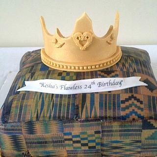 African Inspired Birthday Pillow Cake