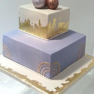 All that is golden wedding cake