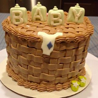 Baby Shower BasketWeave Cake