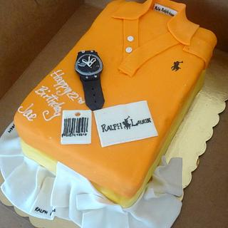 Folded Polo Shirt Cake