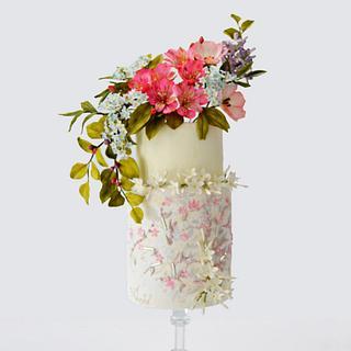 Eli Saab design  inspiration cake - Cake by Catalina Anghel azúcar'arte