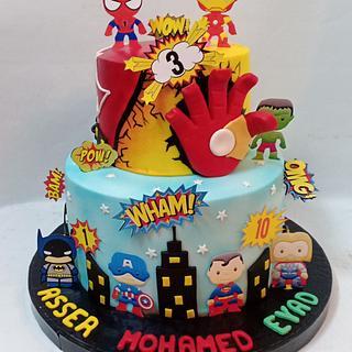 the Super heroes cake