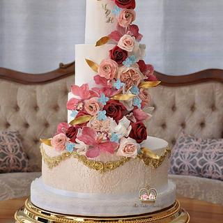 Dolce and Gabbana Inspired Wedding Cake