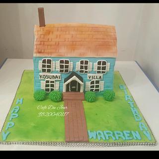 Home Sweet Home - Cake by Gwen Lobo