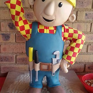 Bob the Builder Cake for my grandson 3rd birthday - Cake by Kim Berriman
