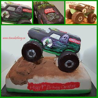 GRAVE DIGGER with LED lights