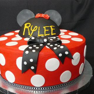 Rylee's Minnie Mouse - Cake by Pam - Kingman Cake Company