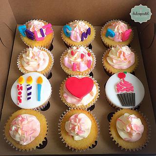 Cupcakes de Cumpleaños en Medellín - Cake by Giovanna Carrillo