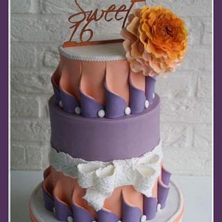 Sweet Sixteen Cake - Cake by Cake Garden