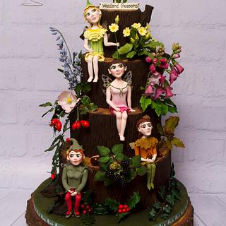 """Woodland Seasons"" cake - part of the Fairytale Forest collaboration at Birmingham CI"