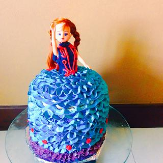 Frozen Princess Anna cake
