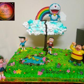 Gravity defying theme cake  - Cake by Divya chheda