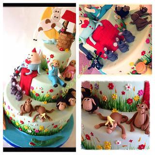 Nursary rhymes on a cake