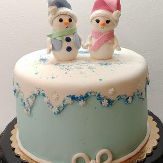 My little Snowman Cake!