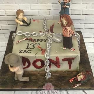 Zombies ....piñata style  - Cake by Rock and Roses cake co.