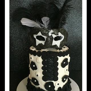 Black & White Theme - Z Stripes Black & White Collab - Cake by  SpecialT Cakes - Tracie Callum
