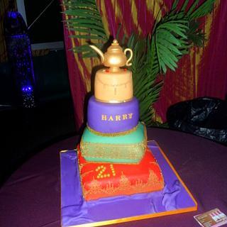 Arabian/Moroccan Themed Cake