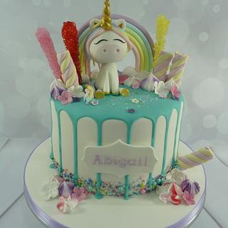 Unicorn Rainbow Drip Cake