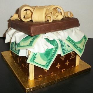 Louis Vuitton Gift Box - Cake by Tracy's Custom Cakery LLC