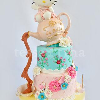 Hello Kitty Shabby Chic Cake