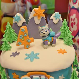 Paw Patrol Cake featuring Everest!