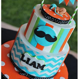 Little Man Liam - Cake by Hot Mama's Cakes