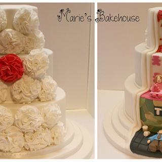 Hidden scene Ruby wedding cake