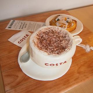 Costa Coffee Cake - Cake by TheCakemanDulwich