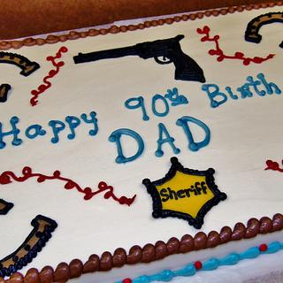 Western buttercream cake