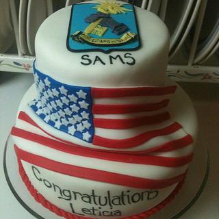 Army SAMS Graduation Cake