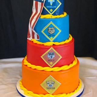 Boy Scouts of America Cake with Flexique Flag