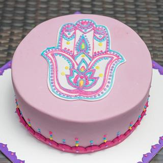 Hamsa Hand, Mandala Cake