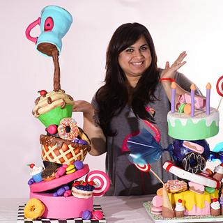 Candy shop- topsy turvy cakes class