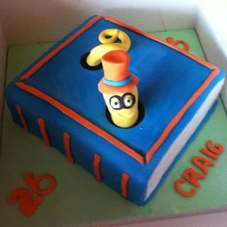 book worm cake - Cake by Lesley