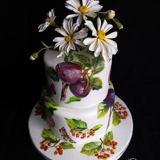 Fresh n Floral Birthday Cake
