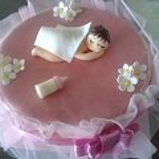 Sleeping baby - Cake by Radhika