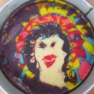 Marbling cake