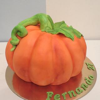 Pumpkin cake with how to photo sequence