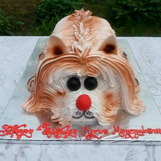 Woof Woof In Whipped Cream - Cake by Michelle's Sweet Temptation
