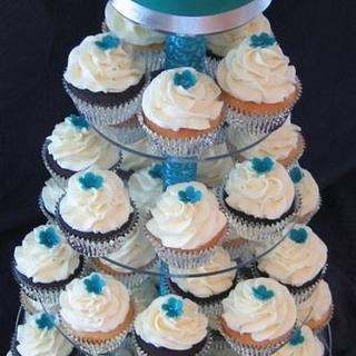 Butterfly Birthday Cupcake Tower