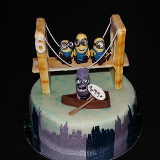 Minions in NY - Cake by Anka