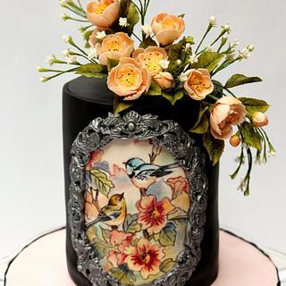 Vintage themed cake !