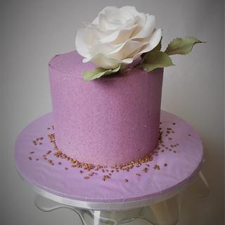 Velvet effect cake