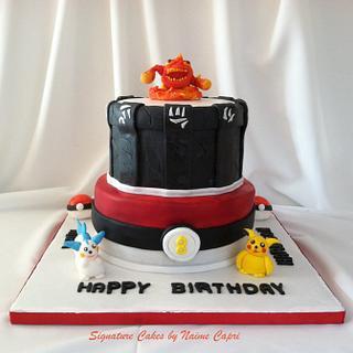 skylander / pokemon themed cake