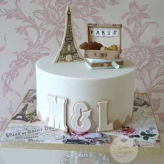 Paris Engagement Cake