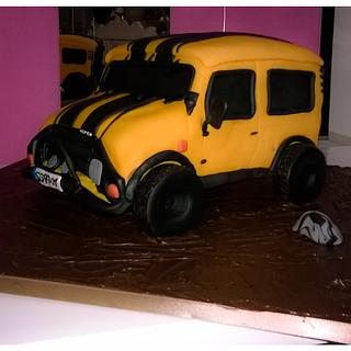 Jeep defying gravity cake